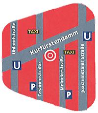 Lageplan / Umgebungskarte outdoor mediateam am Kurfürstendamm